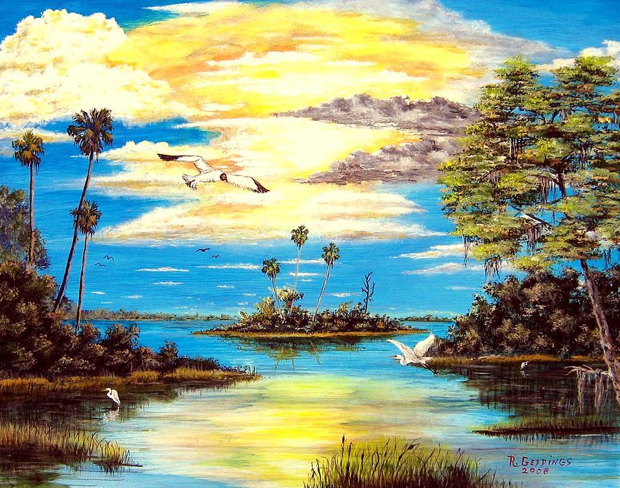 Secret Painting - A Secret Place by Riley Geddings