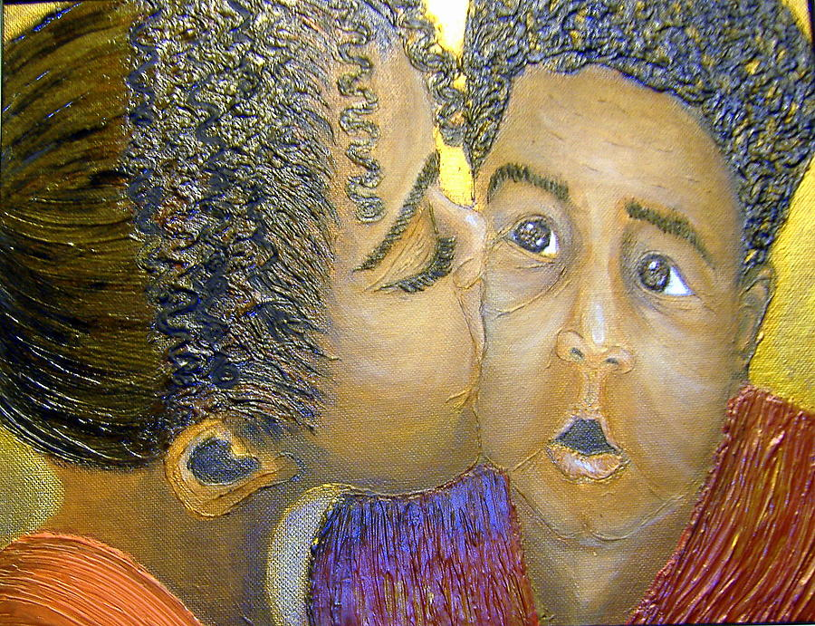 Acrylic Painting - A Sisters Love by Keenya  Woods