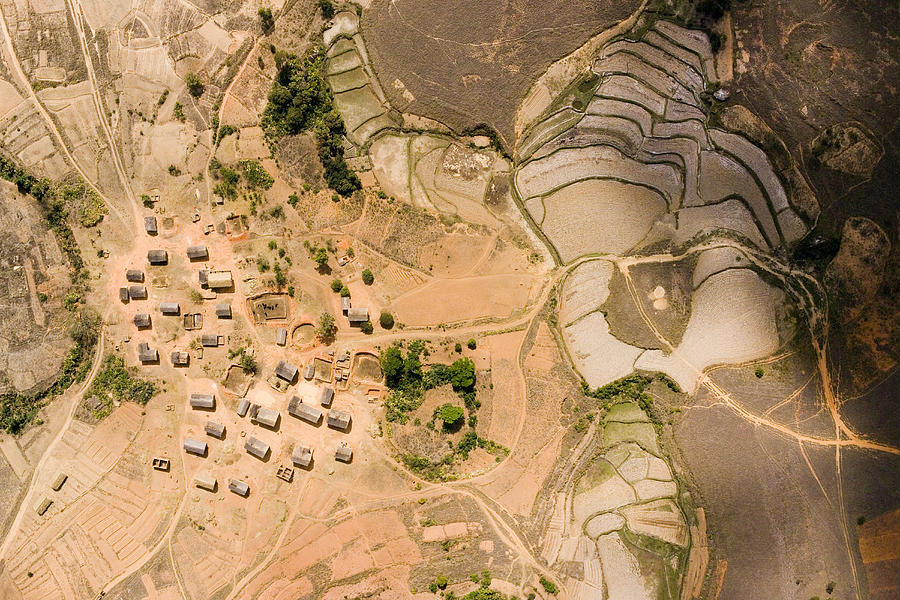 Landscape Photograph - A Small Rice Village In The Central by Michael Fay