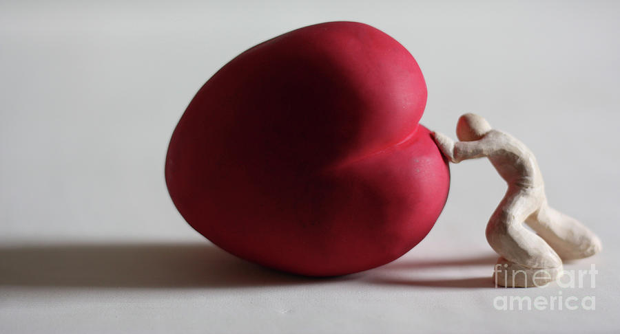 Love Heart Sculpture - A Study For My First Sculpture by Chris Mackie