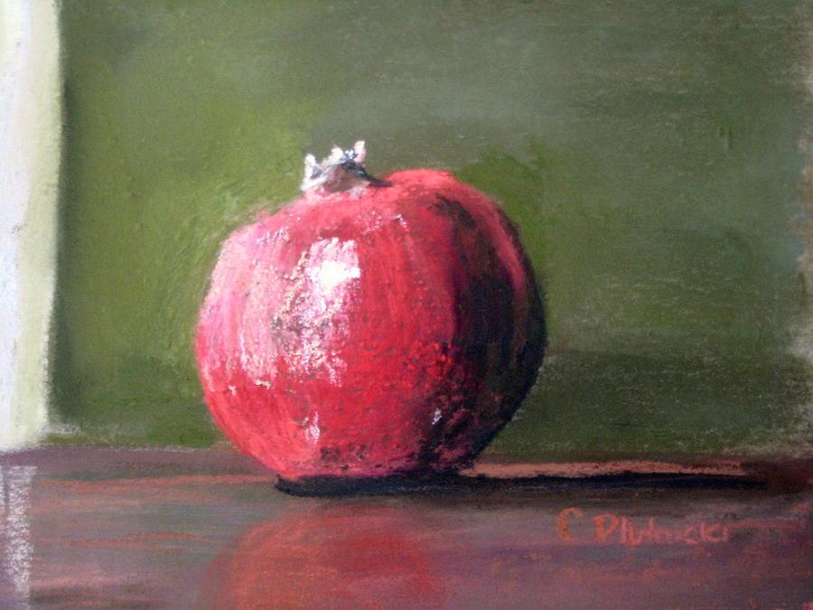 Fruit Pastel - A Study Of Pomegranite by Cindy Plutnicki