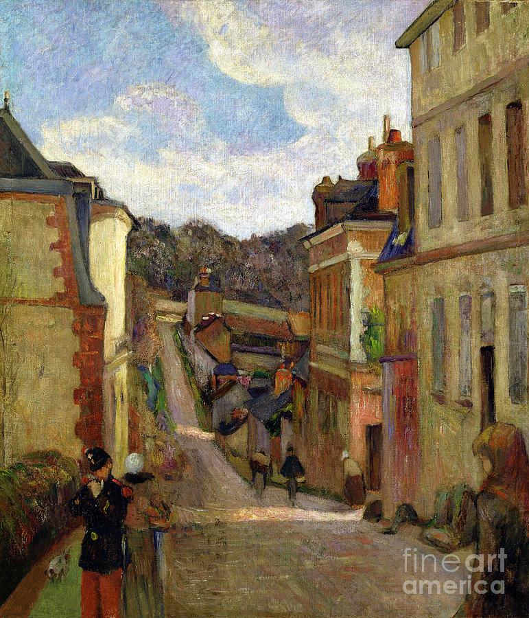 A Suburban Street Painting - A Suburban Street by Paul Gauguin
