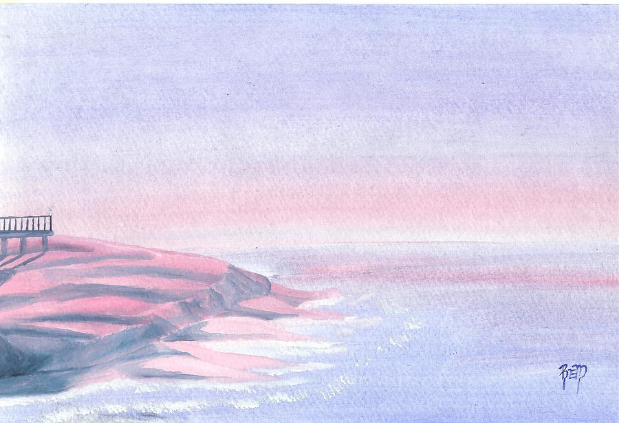 Watercolor Painting - A Sunrise In Paradise... by Robert Meszaros