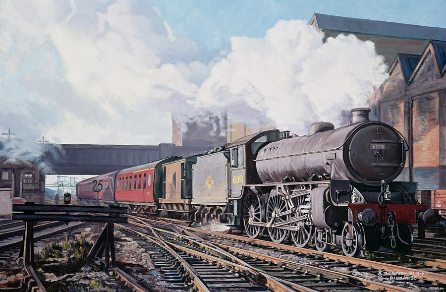 A thompson B1 Class Moving Empty Stock On A Cold February Morning Painting
