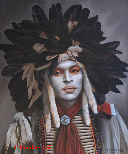 American Indian Painting - A Time Of Honor by K Henderson