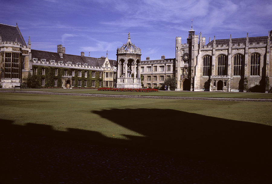 Cambridge Photograph - A View Of The Courtyard Of Trinity by Taylor S. Kennedy