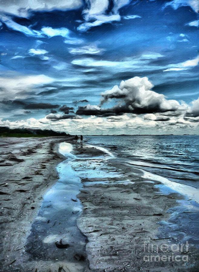 Beach Photograph - A Walk On The Beach by Jeff Breiman