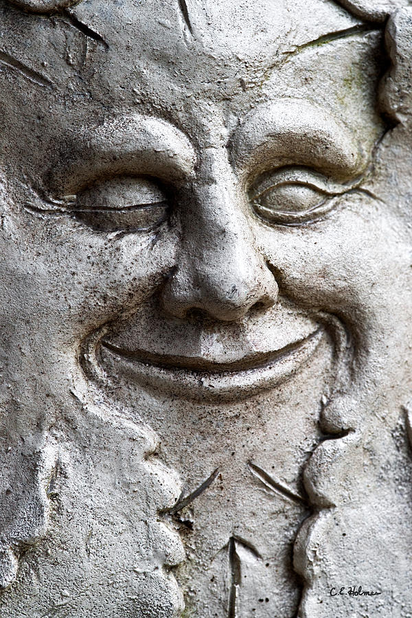 Sculpture Photograph - A Wink And A Smile by Christopher Holmes