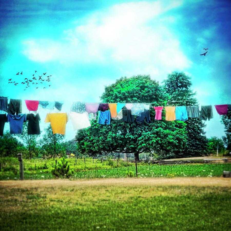 Laundry Photograph - A Womans Work Is Never Done by Tammy Wetzel