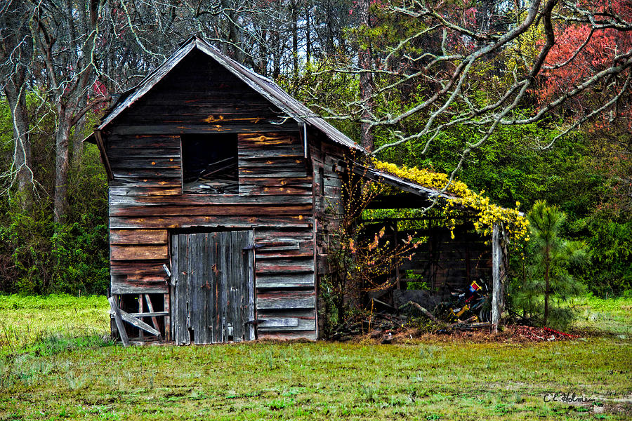 Barn Photograph - A Yellow Cover by Christopher Holmes
