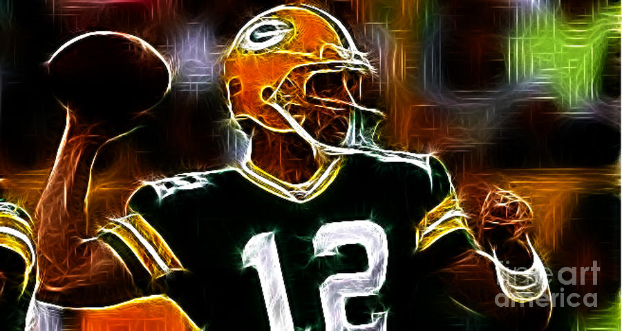 Aaron Rodgers - Green Bay Packers Photograph - Aaron Rodgers - Green Bay Packers by Paul Ward