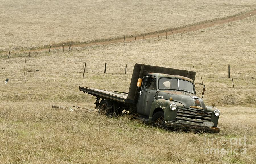 Old Trucks Photograph - Abandoned by Norman  Andrus