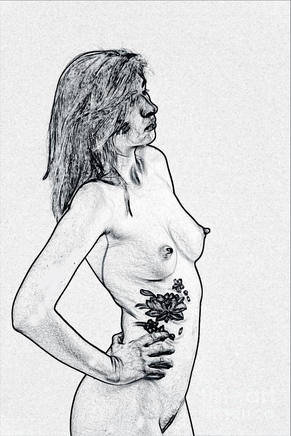 Fine Art Black And White Nude 73