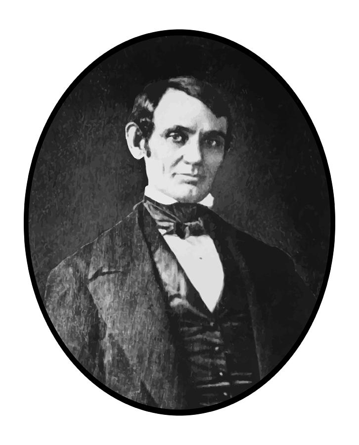 President Lincoln Painting - Abe Lincoln As A Young Man  by War Is Hell Store