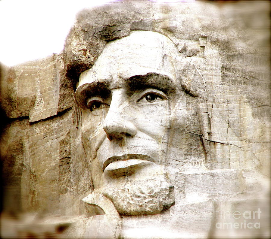 Mt Rushmore Abe Lincoln President Monument Slavery Emancipation Proclamation  Photograph - Abe by Nancy TeWinkel Lauren