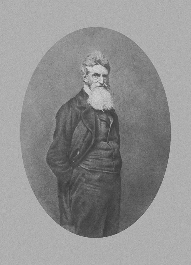 John Brown Photograph - Abolitionist John Brown by War Is Hell Store