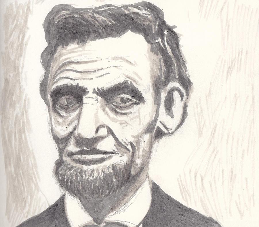 Abraham Drawing - Abraham by Jim Valentine