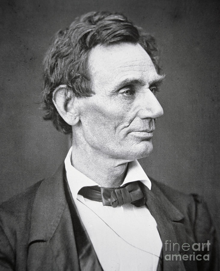 Abraham Lincoln (1809-65) 1860 (b/w Photo) By Alexander Hesler (1823-95) Photograph - Abraham Lincoln by Alexander Hesler