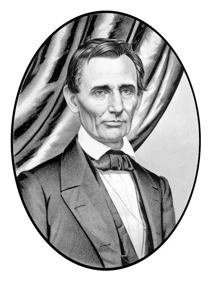 Abraham Lincoln Circa 1860 Painting