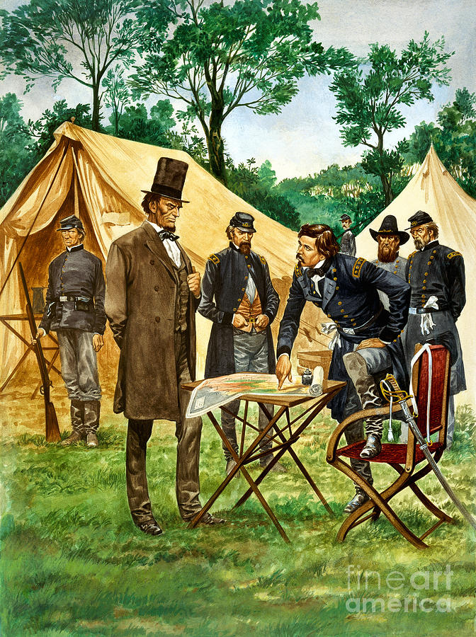 Abraham Painting - Abraham Lincoln Plans His Campaign During The American Civil War  by Peter Jackson