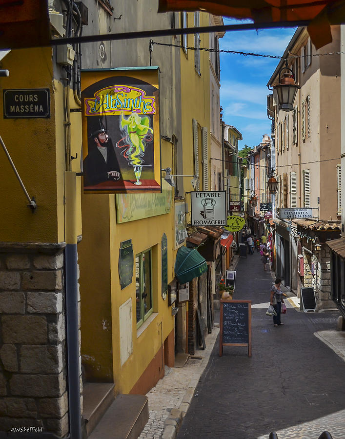 Antibes Photograph - Absinthe In Antibes by Allen Sheffield