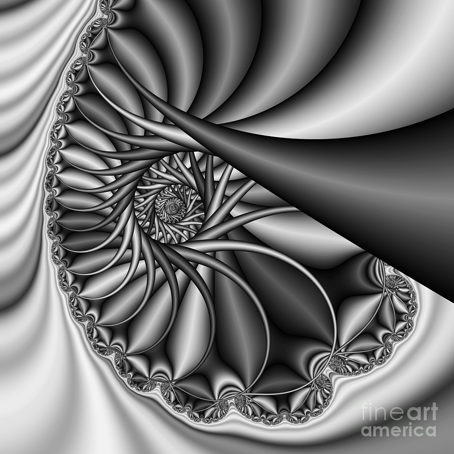 Square Abstract Art Digital Art - Abstract 530 Bw by Rolf Bertram