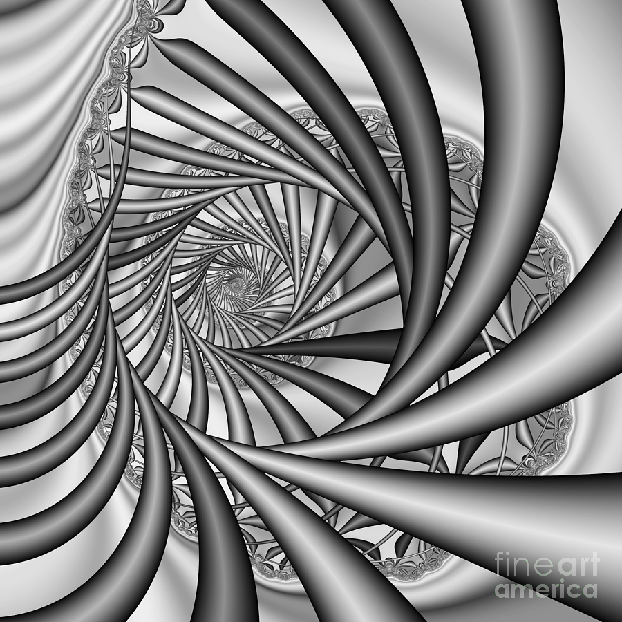 Abstract Digital Art - Abstract 532 Bw by Rolf Bertram