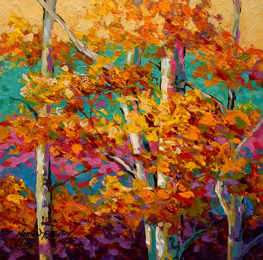 Trees Painting - Abstract Autumn IIi by Marion Rose