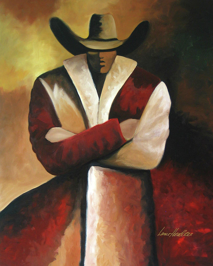 Painting - Abstract Cowboy by Lance Headlee