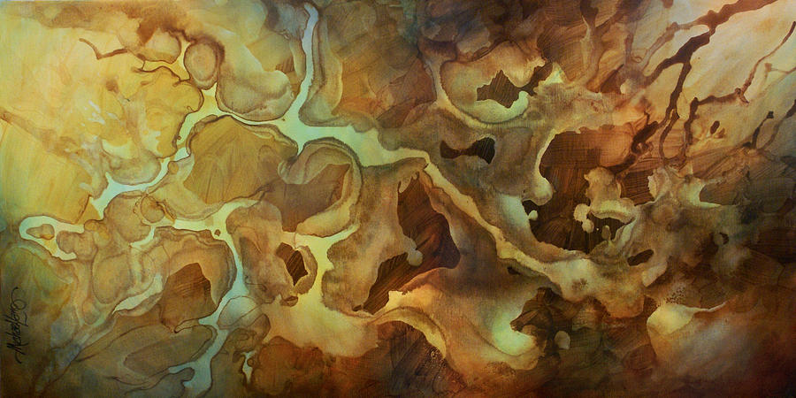 Flowing Painting - Abstract Design 29 by Michael Lang