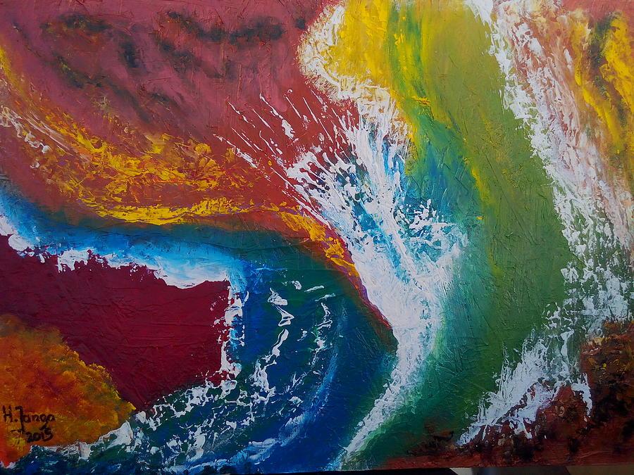 Abstract Earth Painting by Humphrey Janga