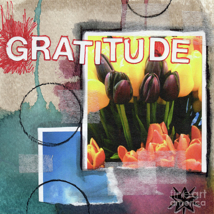 Gratitude Mixed Media - Abstract Gratitude by Linda Woods