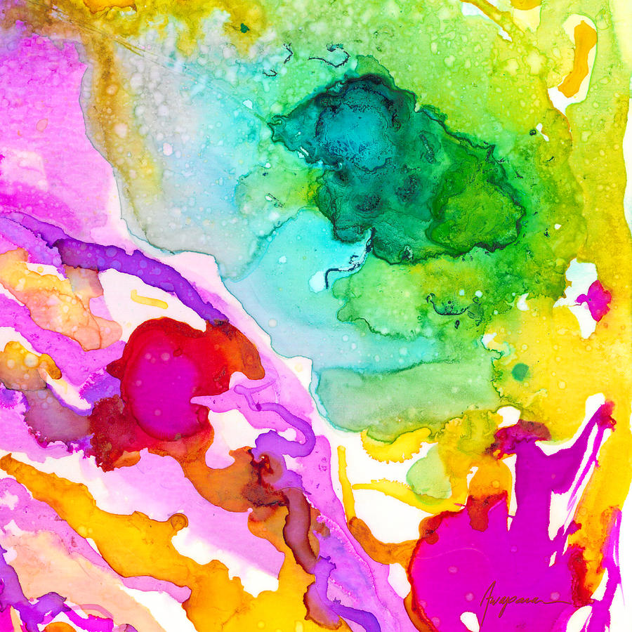 transcendent love 1 abstract ink art colorful original