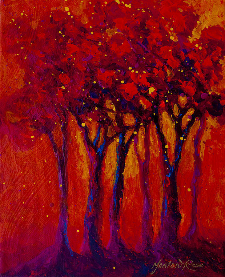 Trees Painting - Abstract Landscape 2 by Marion Rose