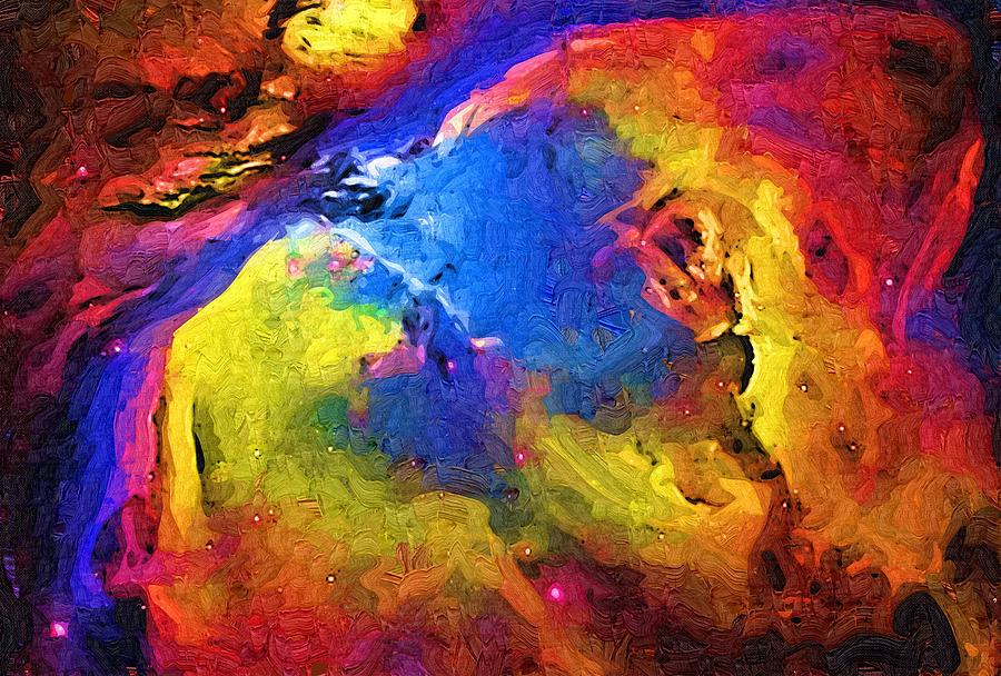 Abstract Painting - Abstract Landscape by Gina Roseanne