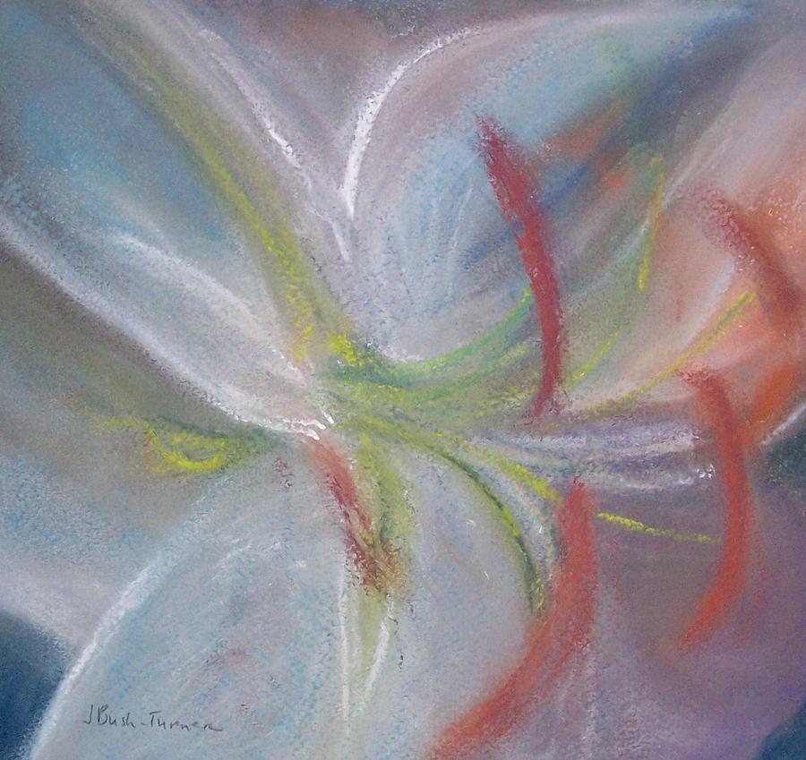 Flower Pastel - Abstract Lily by Jackie Bush-Turner