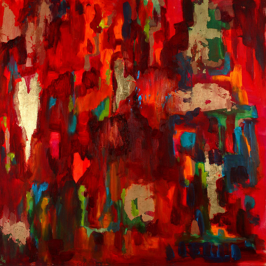 Red Painting - Abstract Love by Billie Colson