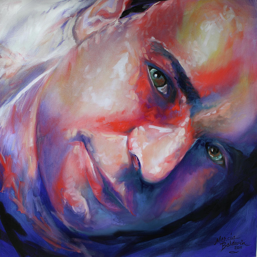Portrait Painting - Abstract Portrait by Marcia Baldwin