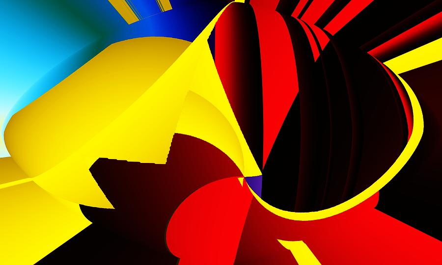 Abstract Red And Yellow Digital Art