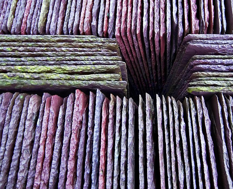 Slate Photograph - Abstract Slate Pile by Meirion Matthias