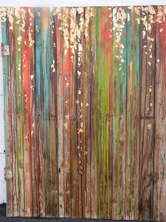 Abstract Painting - Abstract With Gold Leaf by Amber Wallace