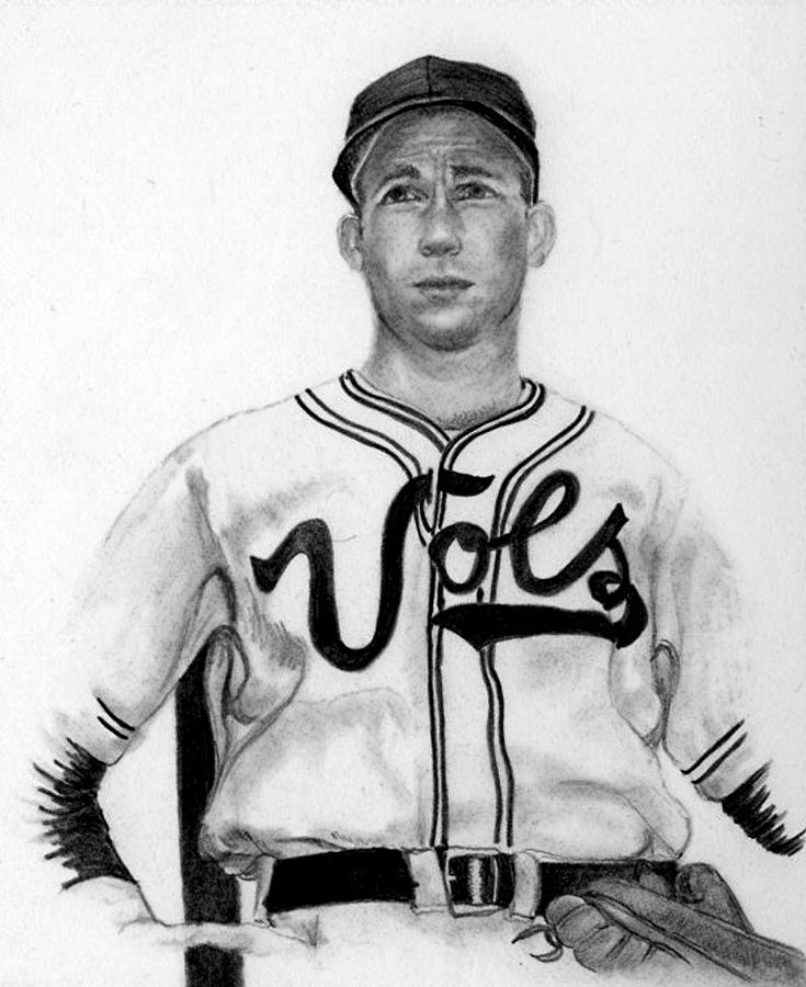 Sports Drawing - Ace As A Vol by Lisa Bell