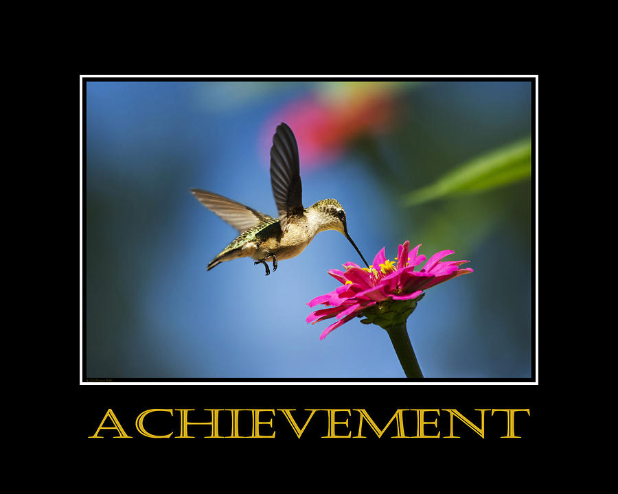 Achievement  Inspirational Motivational Poster Art Mixed Media