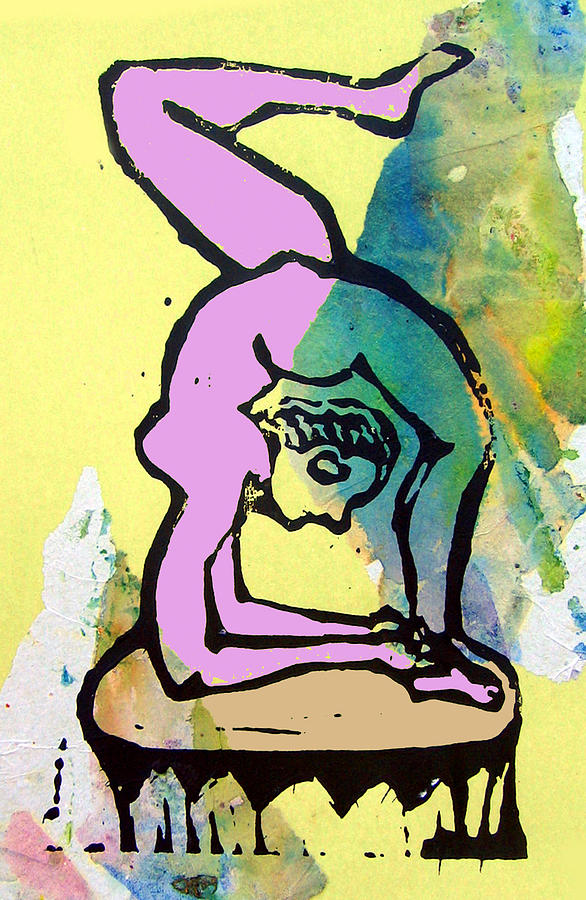Lino Mixed Media - Acrobat 3 by Adam Kissel