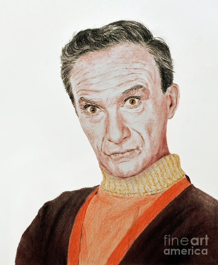 Actor Jonathan Harris As Dr Smith From Lost In Space Drawing