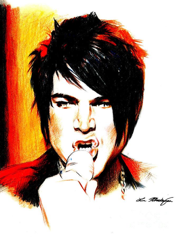 Adam Lambert Drawing - Adam Lambert by Lin Petershagen