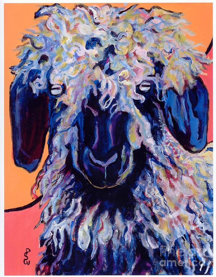 Goat Print Painting - Adelita   by Pat Saunders-White