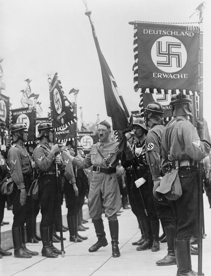 Adolf Hitler With Nazi Storm Troopers Photograph