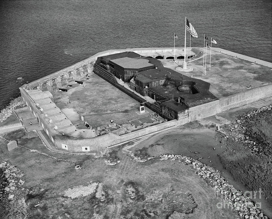 Aerial Of Fort Sumter Photograph