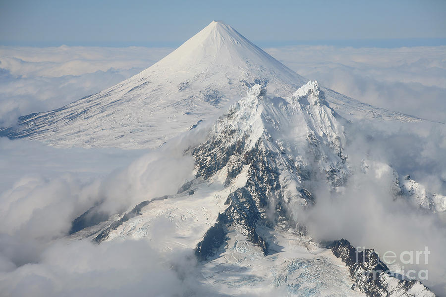 Aerial View Photograph - Aerial View Of Shishaldin Volcano by Richard Roscoe